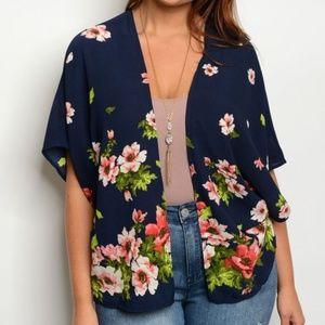 Jackets & Blazers - Plus size floral kimono